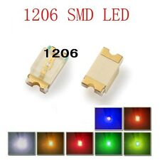 10 Stk. SMD 1206 weiß leds,  1206W ogeled SMD white LEDs