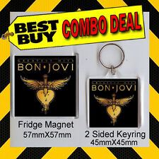 Bon Jovi Album Combo - KEYRING AND FRIDGE MAGNET - NOT CD -Greatest Hits CD#49