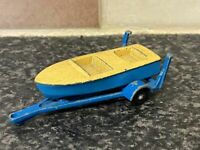 VINTAGE LESNEY MATCHBOX No.48 METEOR SPORTSMAN MKII SPEED BOAT & TRAILER VGC