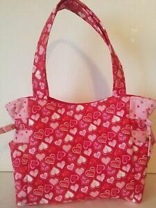 Valentine's Day Hearts on Red Handmade Purse/Tote/Handbag!