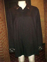 VINTAGE MEN'S AXIS SILK SHIRT WESTERN EMBROIDERED SLEEVES,COLLAR XLARGE & XTALL