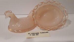 Boyd Crystal Art Glass - Vintage Chick Salt  #41 Crown Tuscan - 1st Generation