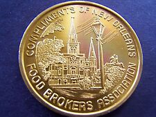1978 NAT'L FOOD BROKERS ASSN. DIAMOND JUBILEE Gold Aluminum Mardi Gras Doubloon