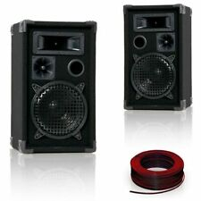 600W PA Boxen 20 cm (8'') BASS DJ-Pro 8 + Lautsprecherkabel 2x 1,5mm² Big Light