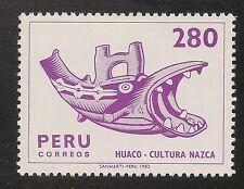 Peru #749B VF MNH - 1982 280s Huaco Idol (Fish), Nazca Tribe