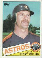 FREE SHIPPING-MINT-1985 (ASTROS) Topps #382 Denny Walling PLUS BONUS CARDS