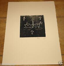 Billy childish ~ medway prison hulk ~ édition limitée gravure sur bois ~ tracey emin