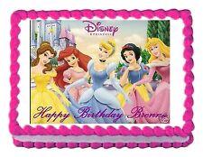 DISNEY PRINCESS party decoration edible birthday cake image cake topper sheet