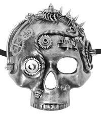 Steampunk Totenkopf Halbmaske Retro Viktorianisch Halloween Fasching Mottoparty