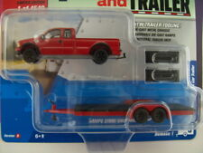 '17 JOHNNY LIGHTNING 2004 FORD F-250 WITH CAR TRAILER TRUCK AND TRAILER SERIES