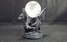"""Quartz Crystal Ball 2.5"""" With Winged Dragon Stand"""