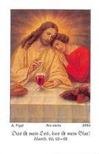 "Fleißbildchen Heiligenbild Andachtsbild Holy card ars sacra""H2000"" MESSOPFER"