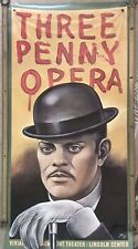 """Large Vintage """"Three Penny Opera"""" Poster by Paul Davis"""
