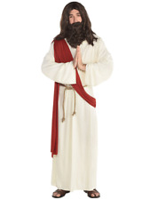 Mens Jesus Costume Fancy Dress Religious Moses Joseph Nativity Easter Outfit
