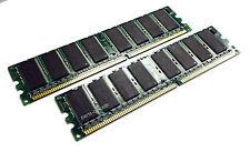2GB 2 x 1GB PC2100 DDR 266 MHz Non-ECC 184 pin DIMM Memory Low Density RAM