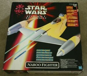 Star Wars Episode 1 - Phantom Menace - Electronic Naboo Fighter -Boxed  -Hasbro