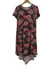 LuLaRoe Women's Leggings Material Carly Dress XS Floral Black Swing Unicorn LLR
