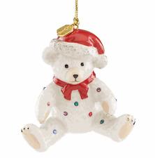 Lenox 2018 Holiday Gems Teddy Bear Ornament