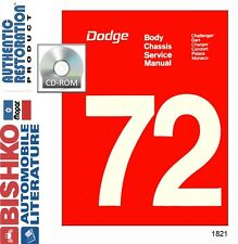 1972 Dodge Charger Coronet Shop Service Repair Manual CD Engine Drivetrain OEM