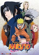 Naruto Leaf Village Group Wall Scroll 31 x 43 inch NEW