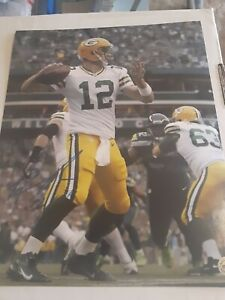 Aaron Rodgers Green Bay Packers Quarterback Autograph 8x10 Original W/COA