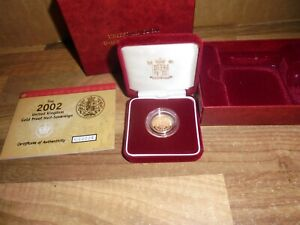 2002 Gold Proof Half Sovereign Queens jubilee Royal Arms Shield,  Boxed & Cert