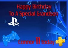 Tarjeta De Cumpleaños Personalizada Playstation cualquier nombre/Edad/relación.