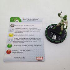 Heroclix Guardians of the Galaxy set Captain Marvel #007b Prime figure w/card!