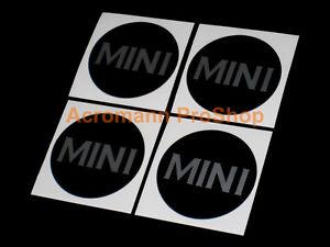 "4x 2"" 51mm Classic Mini cap decal sticker center wheel alloy cooper austin mcs s"
