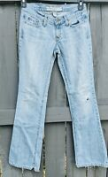 Abercrombie & Fitch Distressed Frayed Light Wash Jeans Women's (28x32) Size 2