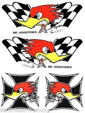 Set Racing Aufkleber Sticker Rockabilly Hot Rod Tuning Motorrad US Car Oldschool