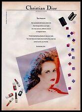 1982 Christian Dior Maquillage Moon White Makeup Tyen Vintage Fashion PRINT AD
