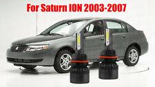 LED For Saturn ION 2003-2007 Headlight Kit 9007 HB5 6000K White Bulbs Hi-Lo Beam