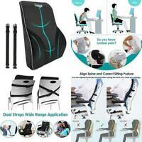 Lumbar Support Pillow/Back Cushion, Memory Foam Orthopedic Backrest For Car Seat