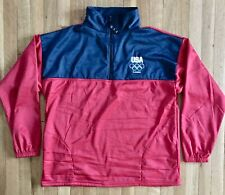 UNITED STATES OLYMPIC COMMITTEE JACKET - LONDON 2012 - MENS XL - RED WHITE BLUE
