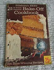 1959 Pillsbury's Best 11th Grand National Bake-Off Cookbook 100 Recipes FREE S/H
