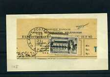 FRANCE N°611OBLITERE S.TELEGRAMME CACHET US ARMY ROUGE