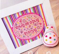 PATTERN - Baby Bug - sweet stitchery toy and framed design PATTERN - for baby