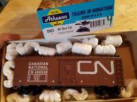 HO Scale TRAIN Kit W/Box CANADIAN NATIONAL CN 40' BOX Brown 486530 KADEES