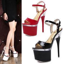 Sexy Clubwear Super High Heel Peep Toe Sandals Platform Stiletto Nightclub Shoes