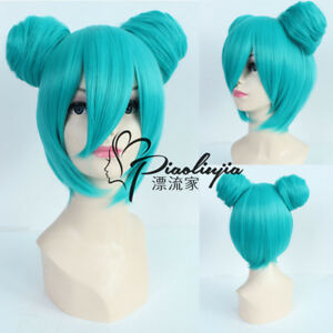 Vocaloid Hatsune Miku Bun Cosplay Costume Anime party Wig heat resistant Z218