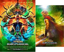 THOR RAGNAROK Original DS 27x40 Movie Poster SET MINT Marvel HULK Teaser + Final