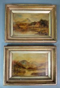 Antique Barbizon school oil paintings