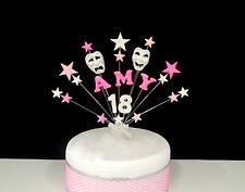 Oscar Night / Theatre Mask  Birthday/ Occasion Cake Topper,  any name and age