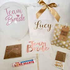 Personalised Hen Do Pre-Filled Gift Bags Gold Luxury Party Shabby Chic Vintage