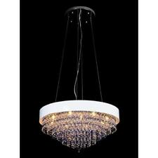 NEW Modern Contemporary Crystal Ceiling Light Round Pendant Chandelier Evrosvet