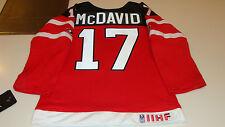 Canada 2015 World Juniors Hockey Jersey IIHF Connor McDavid Red Age 7 Child Kids