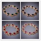 """In 5 Color New Women 14K Gold Filled 8"""" Austrian Crystal Bracelet & Bangle"""