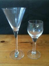 2x ORREFORS GLASSES MARTINI / SCHNAPS & SHERRY / PORT w/ ORIGINAL LABELS