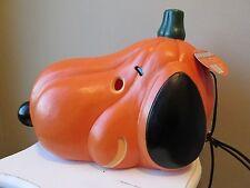 Peanuts Halloween Snoopy Lighted Pumpkin Head Display New